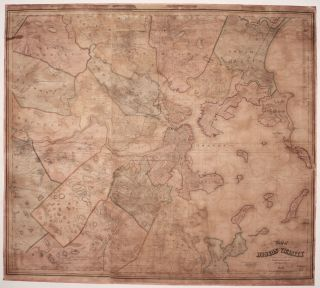 Map of Boston and its Vicinity From Actual Surveys Under the Direction of H.F. Walling,...