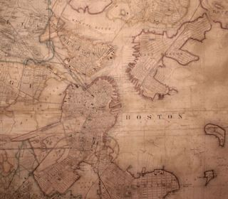 Map of Boston and its Vicinity From Actual Surveys Under the Direction of H.F. Walling, Superintendent of the State Map. 1859 …