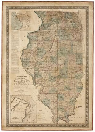 New Sectional Map of the State of Illinois. Compiled From the United States Surveys. J. H....