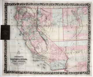 Bancroft's Map of California, Nevada, Utah and Arizona,...