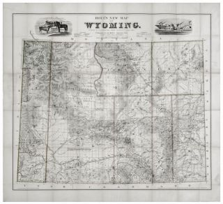 Holt's New Map of Wyoming.