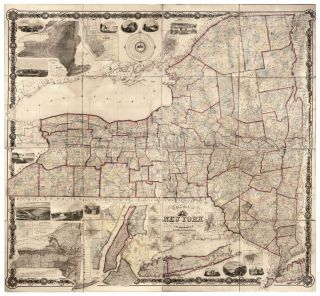 The State of New York from New and Original Surveys under the direction of J.H. French. John...