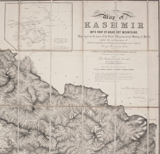 Map of Kashmir with Part of Adjacent Mountains.