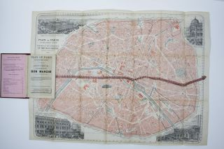 Plan of Paris on the Ribbon System Souvenir of the Grand Warehouse of the Bon Marche/ Plan De...
