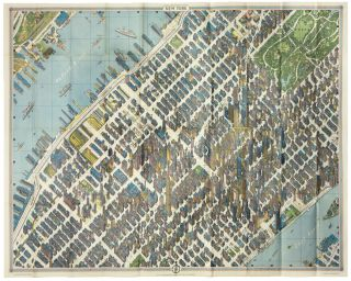 New York Map-Guide. H. BOLLMANN.