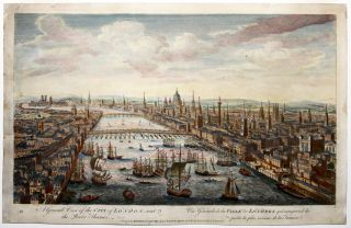 A General View of the City of London, next the River Thames. BOWLES, CARVER