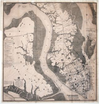 Historical Map of Charleston 1670-1883. Louis J. BARBOT.