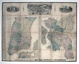 Complete Map of the Cities of New York, Brooklyn and Williamsburgh. C. MAGNUS.