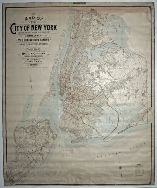 Map of the City of New York, the Imperial City of the New World, embracing the entire city...