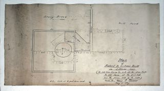 Plan of Robert D. Gilson's Mill in Littleton, Mass…. Drawn by Henry D. Thoreau. May 9, 1857.