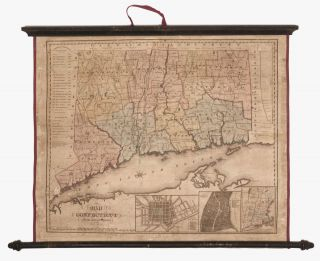 Map of Connecticut from actual Survey…. W. THRALL.