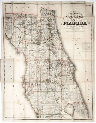 Colton's New Sectional Map Of The Eastern Portion Of Florida…. G W., C B. COLTON, CO