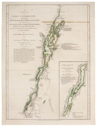A Survey Of Lake Champlain, including Lake George, Crown Point And St. John. . . . [Inset:] A...