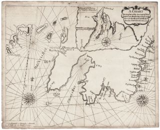 A Chart Shewing Part of the Sea Coast of Newfoundland From the Bay of Bulls to little Placentia…Iohn Gundy Anno 1715. [with inset:] A Draught of the Harboour of Trepassey in Newfoundland. John/ MOUNT GAUDY, PAGE.