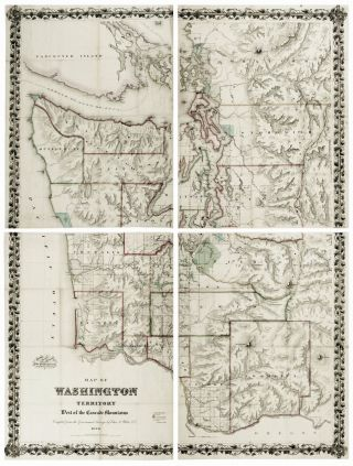 A Map of Washington Territory West of the Cascade Mountains. C. A./ G. W. WHITE, C. B. COLTON CO.