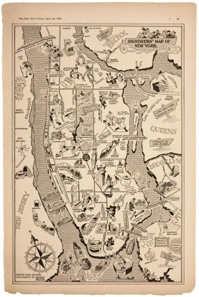 Sightseers' Map of New York. AL HIRSCHFELD