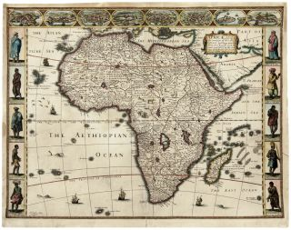 Africae, described, the manners of their Habits,… G. Humble Ano 1626. John SPEED