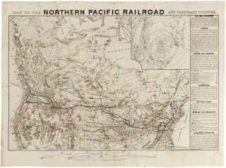 Map Of The Northern Pacific Railroad And Tributary Country. NATIONAL RAILWAY PUBLICATION COMPANY.