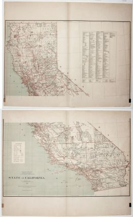 State of California. Published by the Department of the Interior, General Land Office. J. A. Williamson, Commissioner.