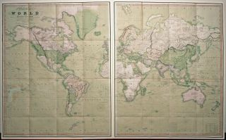 A New Chart of the World On Mercator's Projection With The Track Of The Most Celebrated & Recent Navigators...