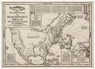 This MAP Presents A Bostonian's Idea of The United States of America. Daniel K. WALLINGFORD.
