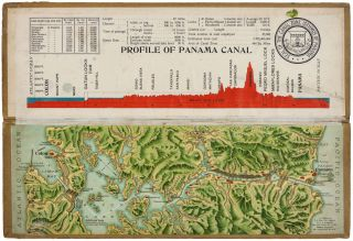 Souvenir Model Of The Panama Canal. L. L. MADURO Jr