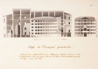 Plan for the Renovation of the Theater of the Accademia Costanti, Pisa. Antonio / GHERARDESCHI...