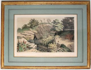1. View of the Cave Facing the Lake, No. VIII 2.Source of the Spring in the Rample, No. XI