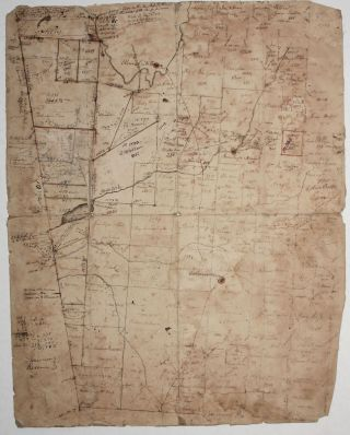 Untitled Manuscript Plat Map. Daniel HOPKINS