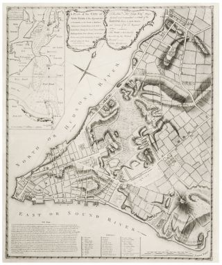 A Plan of the City of New-York & its Environs to Greenwich... Survey'd in the Winter, 1775 Sold...