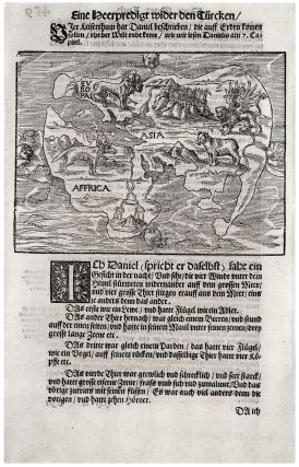 Untitled Woodcut World Map. H. LUFFT
