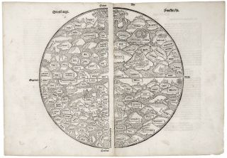 Untitled Woodcut World Map. ANONYMOUS