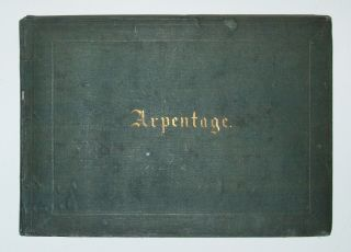 Quelques operations d'Arpentage. Souvenir de la Saint-Libanos, 1857. Anonymous