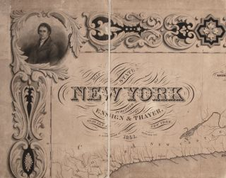 Map Of The State Of New York...1851. [Separately:] Drawn And Engraved By Sherman & Smith New York.