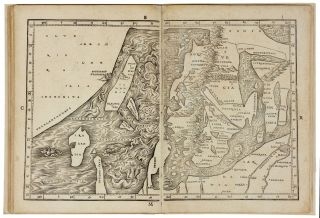 The Complete Suite of Eight sequentially numbered double-page woodcut maps of the Eastern...