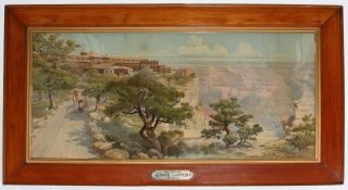 Untitled Chromolithograph of the El Tovar Hotel, Grand Canyon, Arizona, on the Santa Fe