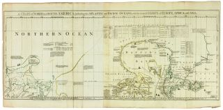A Chart of North and South America, including the Atlantic and Pacific Oceans, with the nearest...