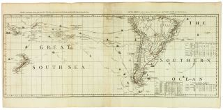 A Chart of North and South America, including the Atlantic and Pacific Oceans, with the nearest Coasts of Europe, Africa, and Asia.