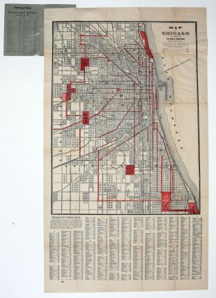 Map of Chicago. F. ROEHR