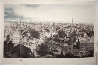 New York From the steeple of St. Paul's Church, looking East, South and West. J. W./ PAPPRILL...