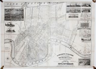 The World's Industrial And Cotton Centennial Exposition, New Orleans, LA., U. S. A. Department of Installation. Plan No. 2 Map of the City of New Orleans. S. MULLEN.