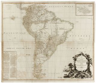 A Map of South America Containing Tierra-Firma, Guayana, New Granada, Amazonia, Brasil, Peru,...