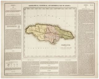 Geographical, Statistical, And Historical Map Of Jamaica. H. C. CAREY, I. LEA