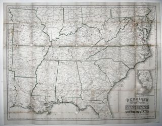 Perrine's New Topographical War Map of the Southern States Taken from the latest government...