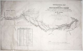 Topographical Map Of The Road From Missouri To Oregon…In VII Sections…From the field notes...