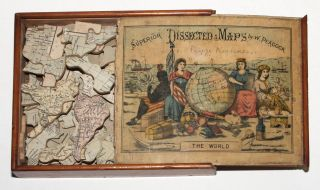 Superior Dissected Maps by W. Peacock The World. W./ GALL PEACOCK, INGLIS