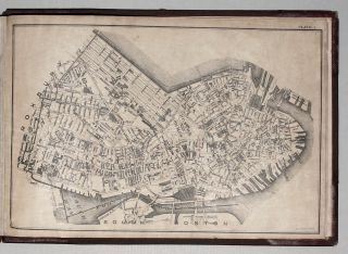Untitled atlas of Boston consisted of 10 street plans of part of the city, a key map of the plans, and two contemporaneous reproductions of early maps of Boston, thus 13 plates in all. GEO. H. WALKER, CO.