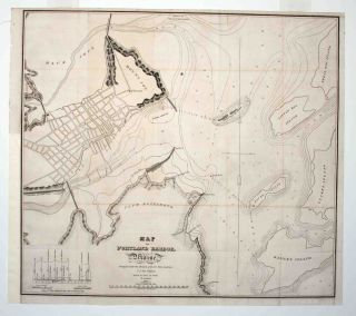 Map of Portland Harbor, Maine. B./ THROOP POOLE, J. V. N