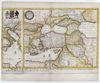 A Mapp of the Estates of the Turkish Empire in Asia and Europe…. R. BLOME
